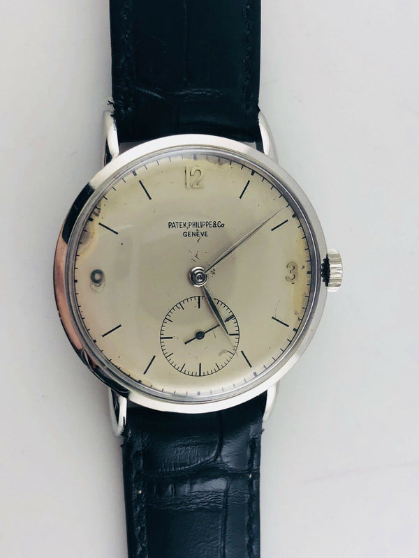 PATEK PHILIPPE Stainless Steel 1940s Ref. #1513 Mechanical Men's Watch / Extremely Rare! - $60K Value w/ CoA