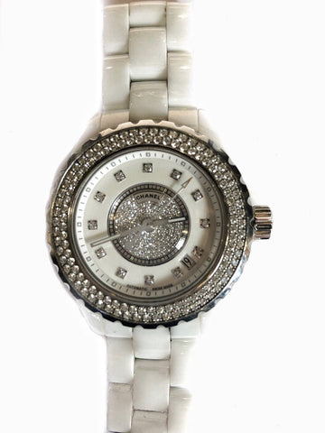 Chanel J12 Automatic, Diamond, Ceramic, Lady's Watch, $30K Value W/Certificate!!