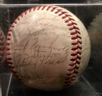 NEW YORK YANKEES 1967 Game Day Baseball Autographed by 25 Players & Coaches - $4K VALUE