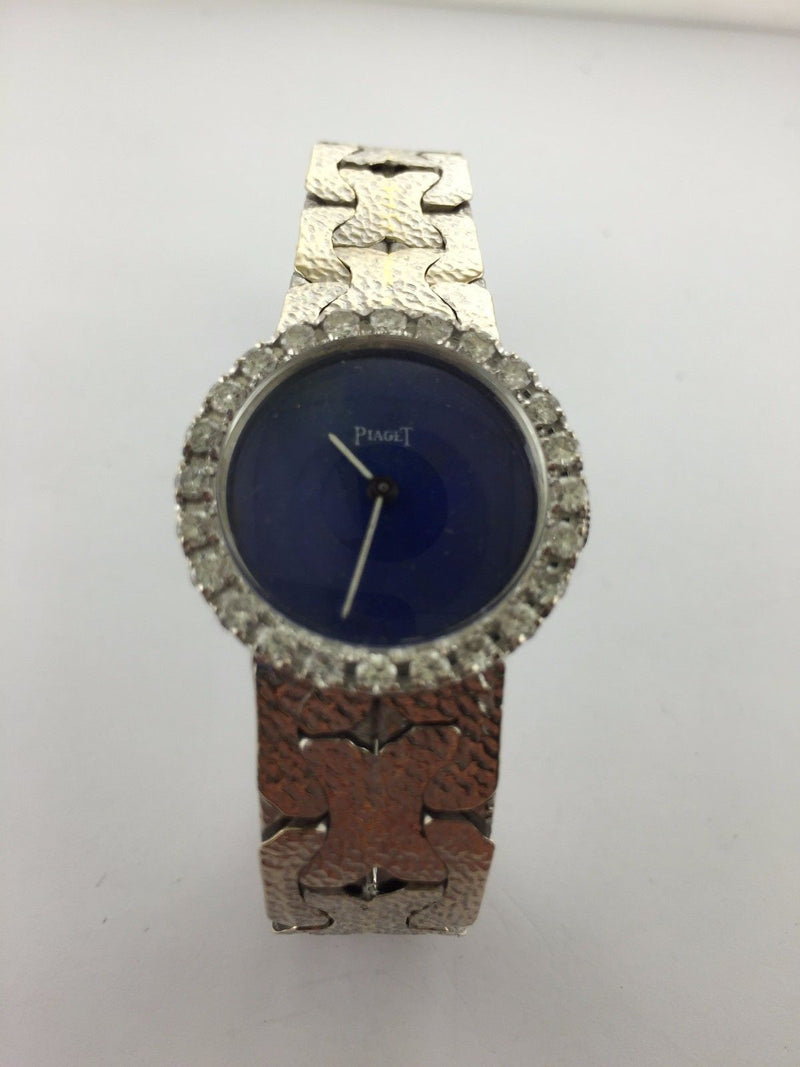 PIAGET Luxury Lady's Diamond Wristwatch in 18K White Gold with Lapis Lazuli Dial - $50K VALUE