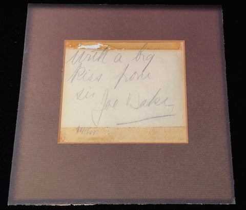 Authentic Josephine Baker 1931 Original Inscription and Autograph - $20K VALUE