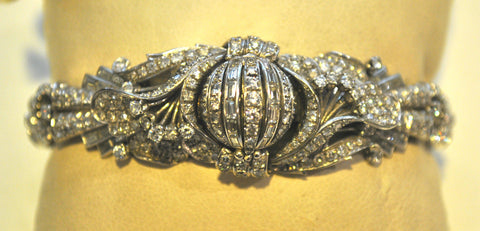 1940s Jaeger LeCoultre Rare Vintage Bracelet/Watch with 25 Carat Diamond in Platinum - $75K VALUE