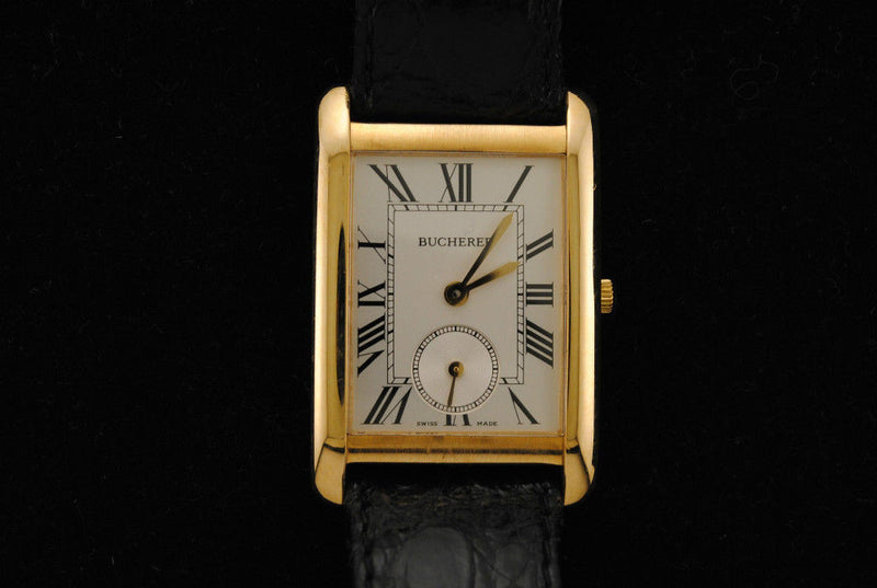 Bucherer Men's Wristwatch in 18K Yellow Gold with Silver Dial & Sub-Seconds Dial - $15K VALUE