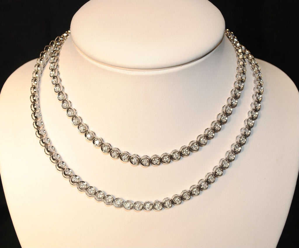 Contemporary White Gold Necklace with 147 Diamond - $30K VALUE