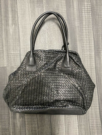 ELLIOT LUCCA Leather Woven Top Handle Shoulder Bag - $500 APR Value w/ CoA! ✓