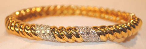 T.U.R.I. Diamond Bangle Bracelet in 18K Yellow Gold with 2.50 Carats in Diamonds - $20K VALUE