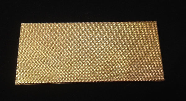 VAN CLEEF & ARPELS 1940s Vintage 18K Solid Yellow Gold Basket Weave Cigarette Case - $50K VALUE