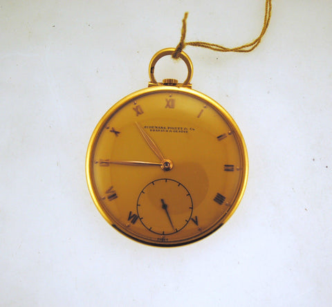 Very Elegant Audemars Piguet 18K Yellow Gold Pocket Watch - $20K VALUE