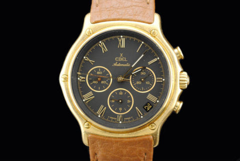 Ebel Men's Chronograph Wristwatch in 18K Yellow Gold with Date Feature - $25K VALUE