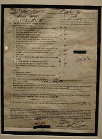 Signed Brandon Lee Bill of Health Document for the Film, Moving Target - $30K VALUE