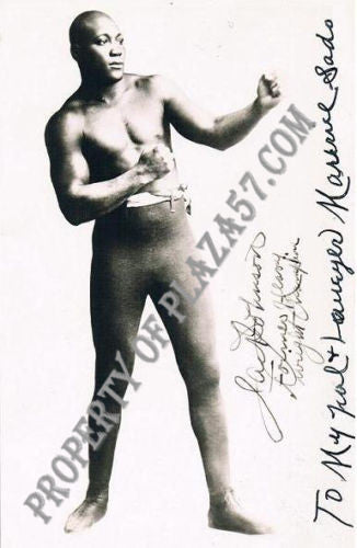 JACK JOHNSON Heavyweight Champion Autographed Photograph - $30K VALUE