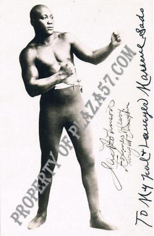 Personally Autographed Photograph of African American Heavyweight Champion Jack Johnson - $30K VALUE