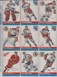 1954-55 Topps Hockey Complete Set of 60 Cards Rare Unique Collection in Extremely Fine Condition $10K VALUE
