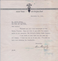 NEW YORK YANKEES 1010 WINS Letter w/ 25 Signatures Including Key Players Joe McCarthy, John Lindell, Hershel Martin, 1944 - $6K VALUE*