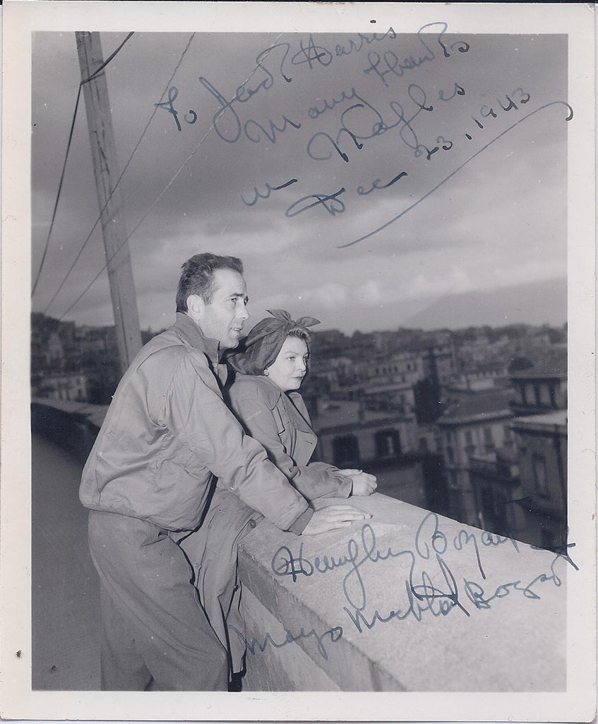 Rare Signed Humphrey Bogart and Mayo Methot Bogart Photograph in Europe - $60K VALUE