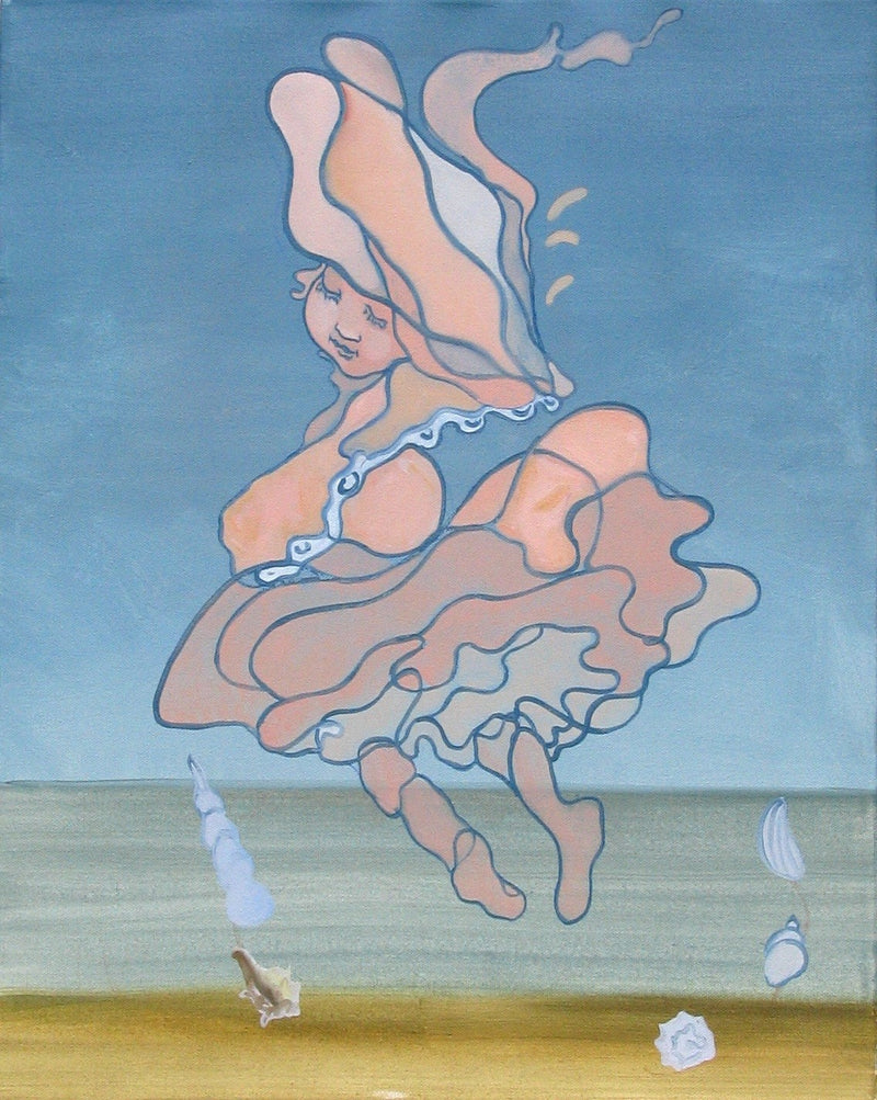 "LIDIA NESTEROVA ""Seashell 1"" Oil on Canvas, 2007 - $16K Appraisal Value!"