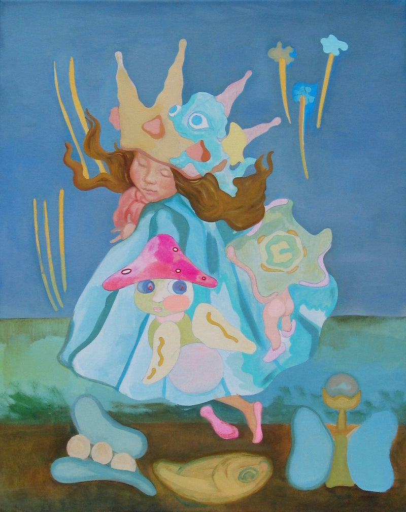 "LIDIA NESTEROVA ""Seashell 2"" Oil and Acrylic on Canvas, 2007 - $16K Appraisal Value!"