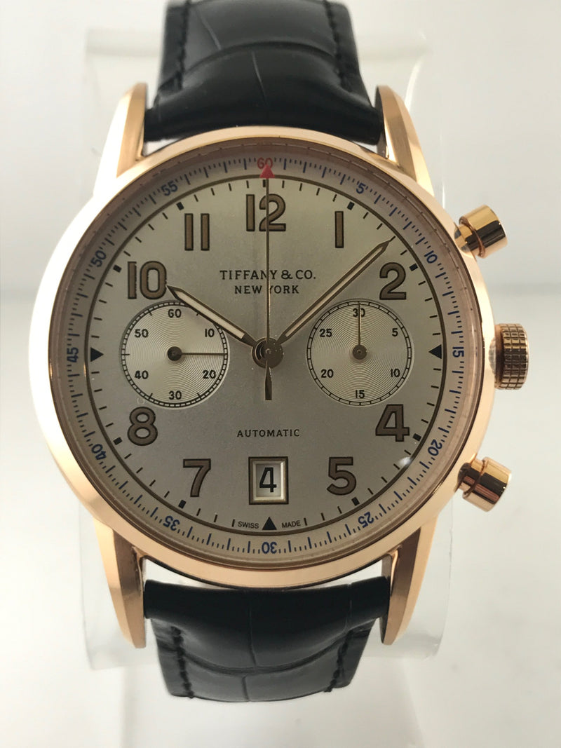 TIFFANY & CO. 18K Rose Gold Chronograph w/ Original Box And Guarantee - $18K VALUE