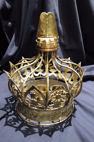 Sterling Silver Torah Crown with 12 Tribes and Hebrew Etchings - $15K VALUE