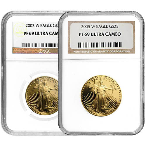 1/2 oz Proof American Gold Eagle Coin NGC PF69 UCAM (Random Year)
