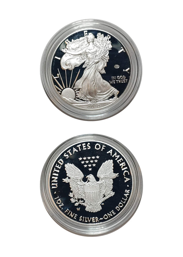 2020 End of World War II 75th Anniversary Silver Proof Eagle - $800 APR Value w/ CoA! ✿✓