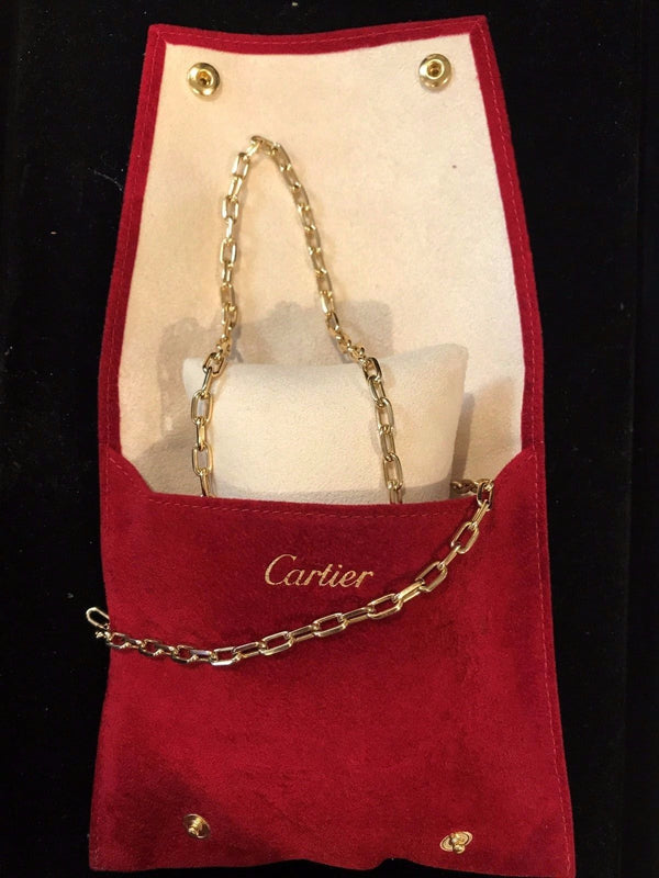 CARTIER Matching 18K Yellow Gold Necklace and Bracelet Set - $24K Appraisal Value! ✓