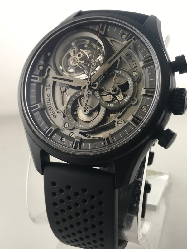 ZENITH El Primero Tourbillon Skeleton Chronograph Limited Edition 118/150! - $100K Appraisal Value w/ CoA!
