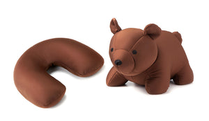 Zip and Flip Head Rest Brown Bear - 2