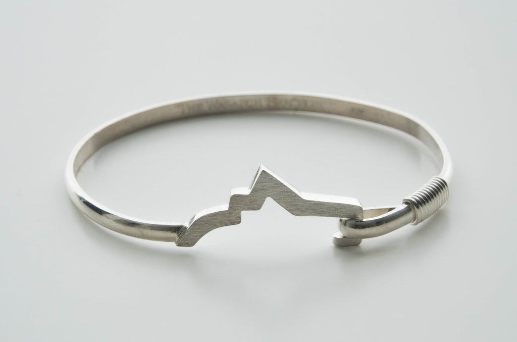 Lady's Sterling Silver Wasatch Bracelet Bangle