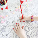 Valentine Coloring Tablecloth