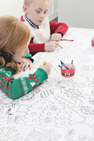 christmas coloring tablecloth christmas coloring tablecloth