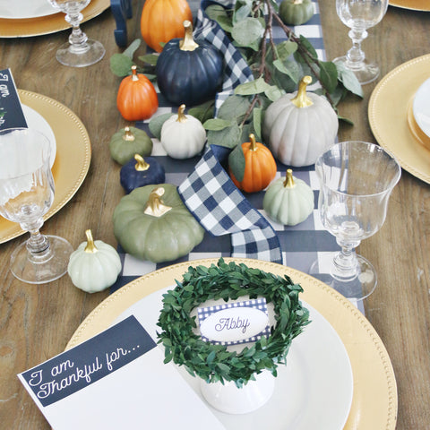 Thanksgiving Plaid Table