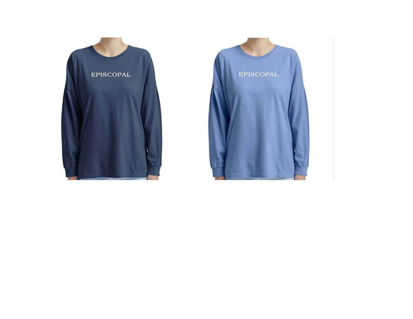 Women's Oversized Long Sleeve Garment Dyed Tee