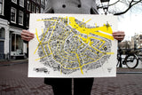 Great Places of Amsterdam - A2 Riso Poster
