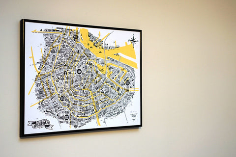 Great Places of Amsterdam - A2 Limited Edition Screen Print