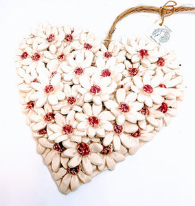 Medium Pink Flower Heart