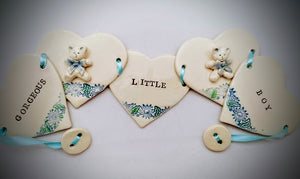 Gorgeous Little Boy Ceramic Bunting