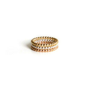 Daisy - Stacking Ring in Yellow Goldfilled