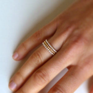 Daisy - Stacking Ring in Sterling Silver