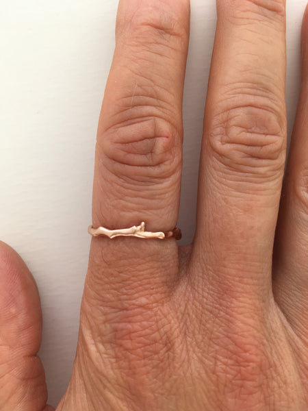 Twig Band Stacking Ring or Wedding Ring in 9 carat gold