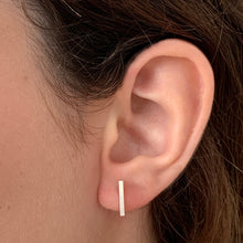 Load image into Gallery viewer, Bar Ear Studs in Sterling Silver