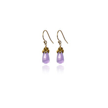 Load image into Gallery viewer, Bonbon Mini - Smooth Amethyst Drop Earrings