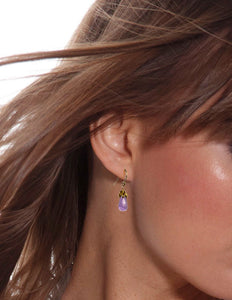 Bonbon Mini - Smooth Amethyst Drop Earrings