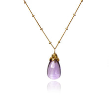Load image into Gallery viewer, Bonbon - Smooth Amethyst Drop Necklace