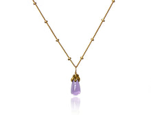 Load image into Gallery viewer, Bonbon Mini - Smooth Amethyst Drop Necklace