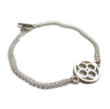 Load image into Gallery viewer, Domus - sterling silver double chain bracelet
