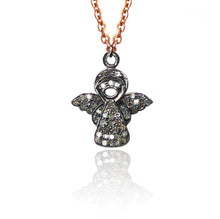 Load image into Gallery viewer, Diamond Charm Necklace - Guardian Angel
