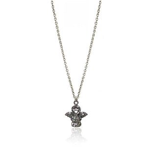 Diamond Charm Necklace - Guardian Angel