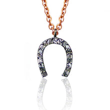 Load image into Gallery viewer, Diamond Charm Necklace - Horseshoe Pendant