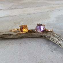 Load image into Gallery viewer, Twig Statement Ring with Cushion Cut Citrine